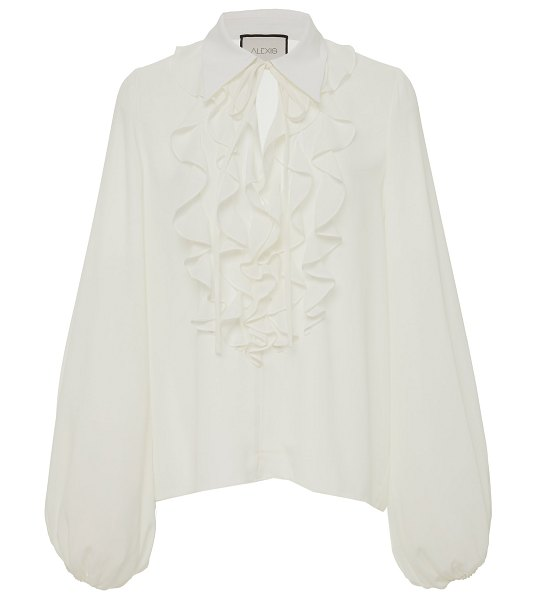 Alexis niseema crepe de chine ruffled blouse in white