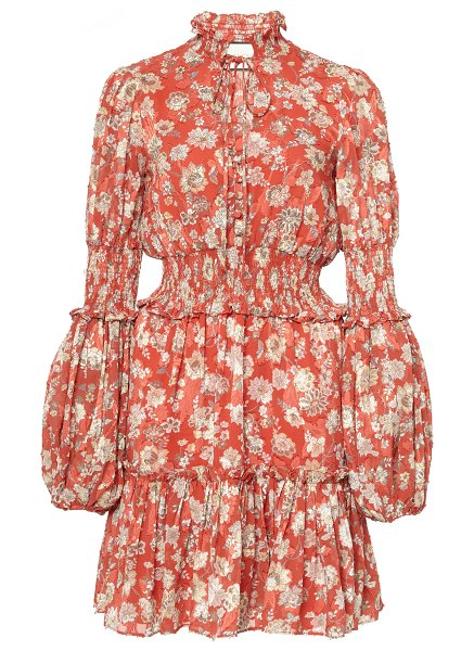 Alexis rosewell smocked mini dress in print