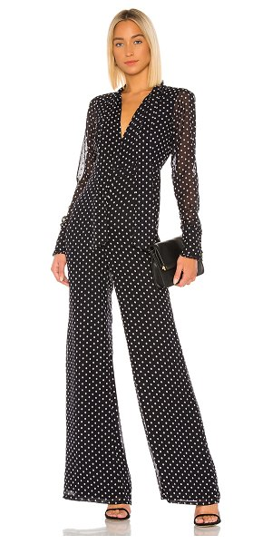 Alexis tanelli jumpsuit in black embroidered dot