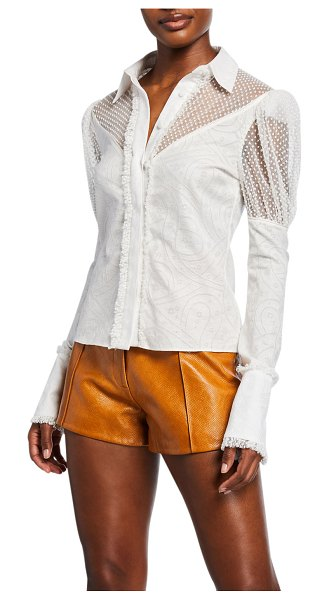 Alexis Virginia Lace Ruffle Top in white