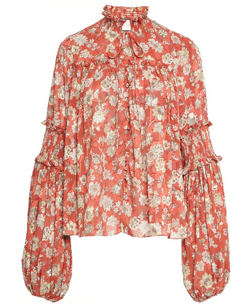 Alexis zaria floral bell sleeve blouse in print
