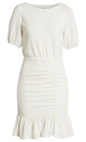 Ali & Jay happy hour textured ruched minidress in white