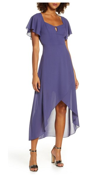 Ali & Jay new bohemian chiffon high/low dress in violet