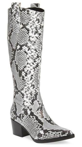 Alias Mae stevie western boot in snake print leather