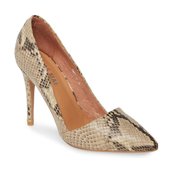 Alias Mae talise pump in beige snake print leather