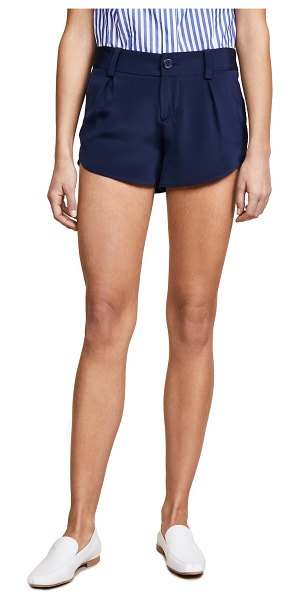 Alice + Olivia butterfly shorts in navy
