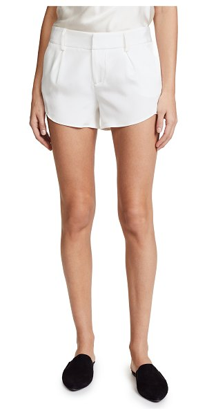 Alice + Olivia butterfly shorts in white