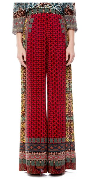 Alice + Olivia athena pattern mix wide leg pants in always forever multi