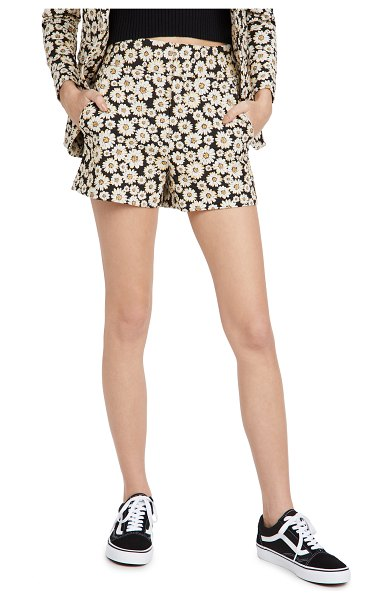Alice + Olivia cady clean shorts in black/multi