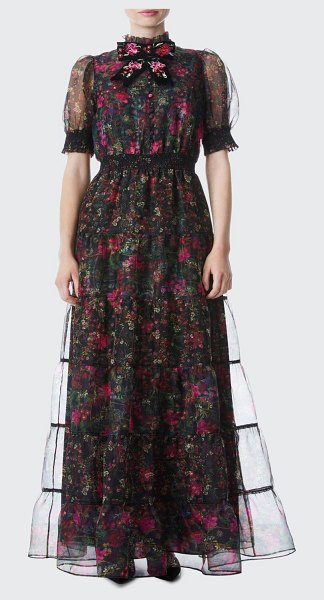 Alice + Olivia Coletta Button-Front Maxi Dress in first datecombo