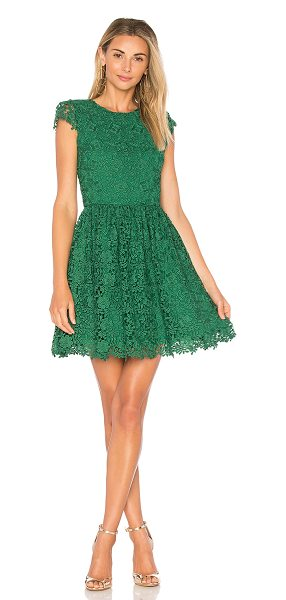 Alice + Olivia Corina Dress in green - Shell: 100% polyLining: 94% poly 6% elastane. Dry clean...