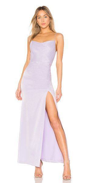 Alice Olivia Diana Cowl Neck Gown In Purple Shopstasy