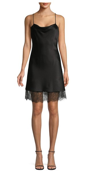 Alice + Olivia Harmony Lace Trimmed Dress in black