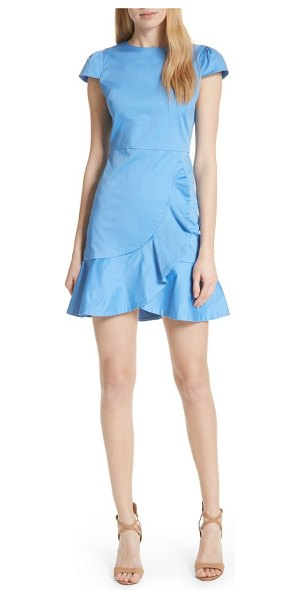 60aafbcd15dca Alice + Olivia kirby ruffle faux wrap dress in cerulean - Flounce makes  everything cuter this