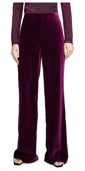 Alice + Olivia lorinda super high waist pants in merlot