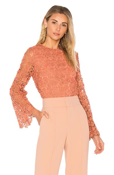 Alice + Olivia Pasha Top in pink - Shell: 100% polyLining: 94% poly 6% elastane. Dry clean...