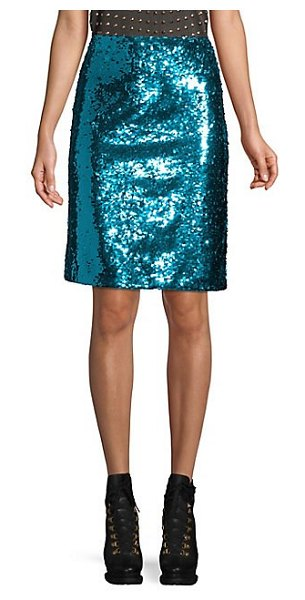 a6fc03f9b Alice + Olivia Ramos Sequin Fitted Skirt   Shopstasy