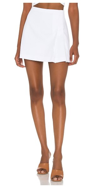 Alice + Olivia semira pleated mini skirt in white