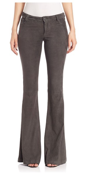 Alice + Olivia suede bell pants in charcoal