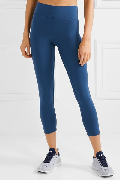 All Access center stage cropped stretch leggings in blue