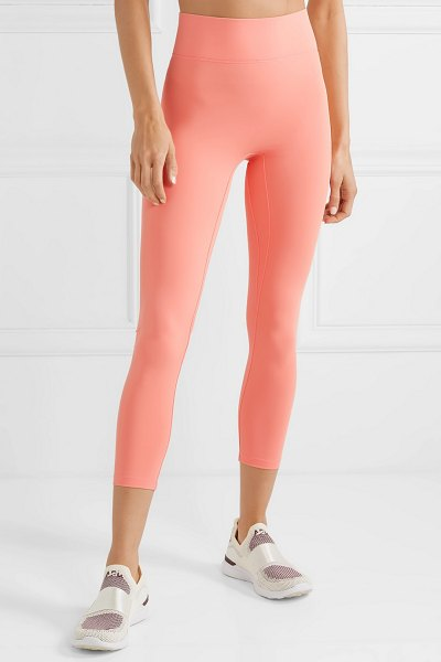 All Access center stage cropped stretch leggings in peach