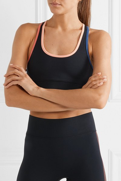 All Access front row stretch sports bra in black - Made from the label's eight-way stretch fabric for a...