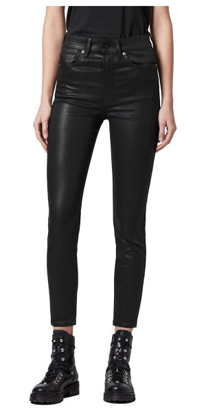 ALLSAINTS dax coated skinny jeans in coated black