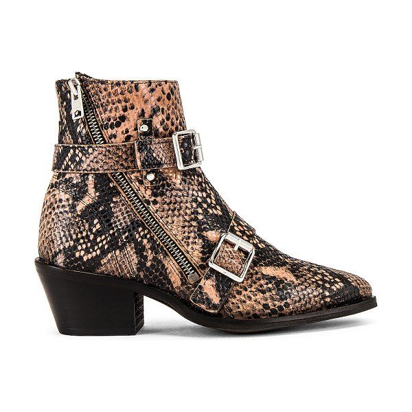ALLSAINTS lior bootie in taupe snake