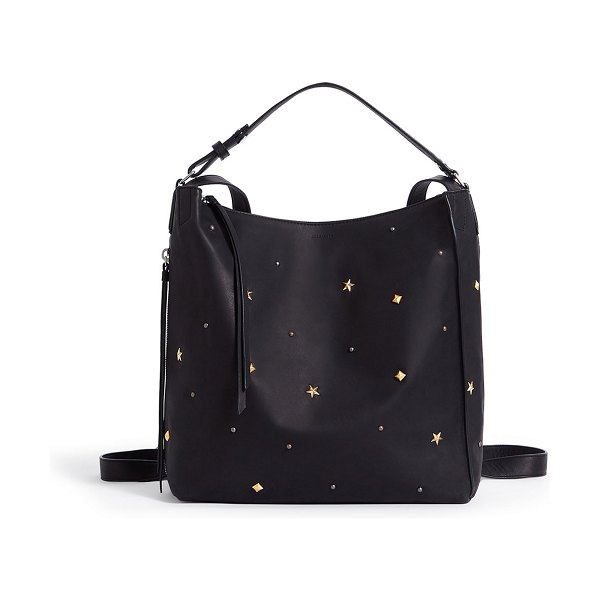ALLSAINTS Mazzy Studded Leather Backpack in black