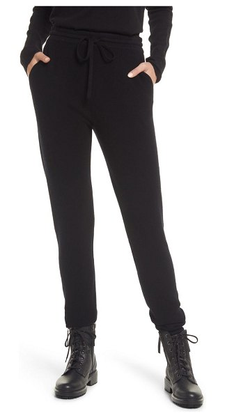 ALLSAINTS ridley wool & cashmere joggers in black