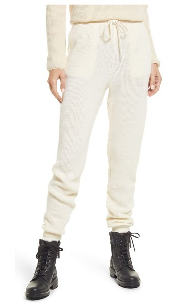 ALLSAINTS ridley wool & cashmere joggers in chalk white