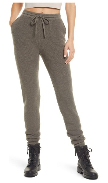 ALLSAINTS ridley wool & cashmere joggers in loch brown marl