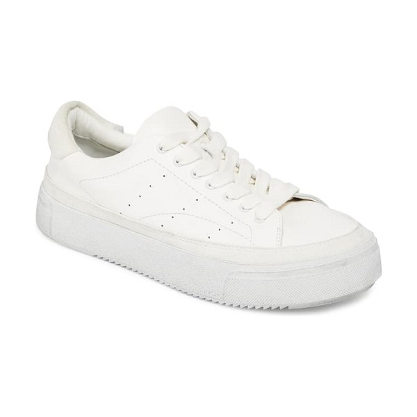 ALLSAINTS trish platform sneaker in white/ white leather