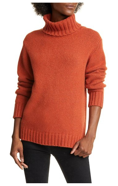 ALLUDE cashmere turtleneck sweater in red