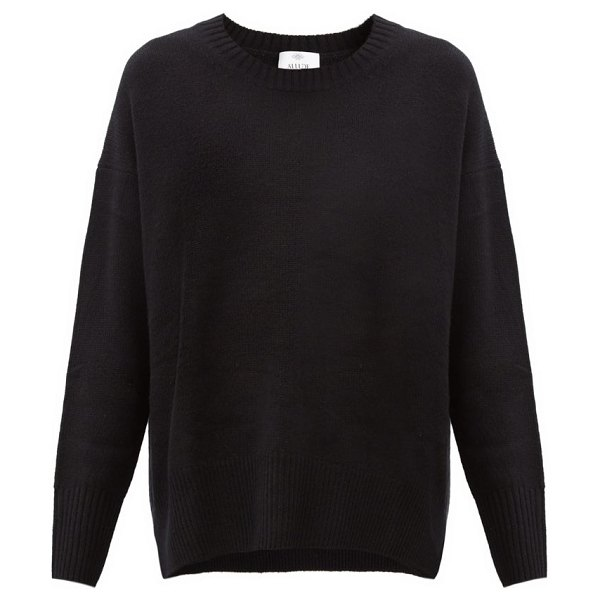 ALLUDE dropped-sleeve cashmere sweater in black