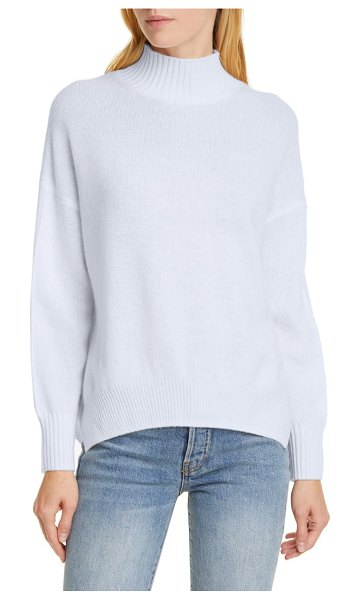 ALLUDE mock neck cashmere sweater in blue