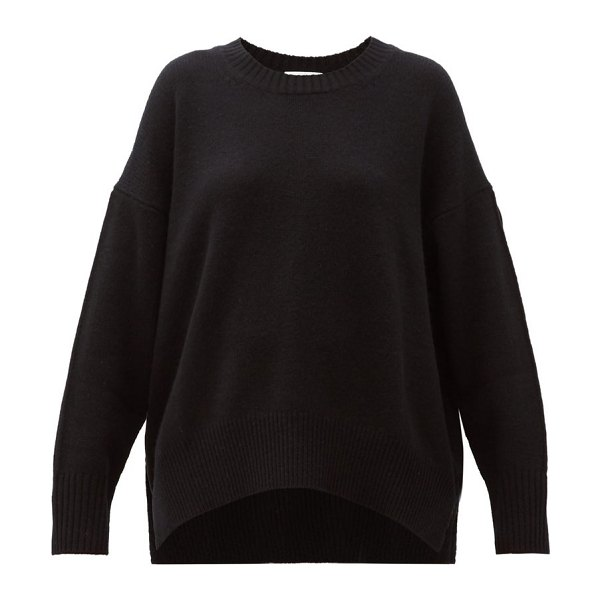 ALLUDE oversized cashmere sweater in black