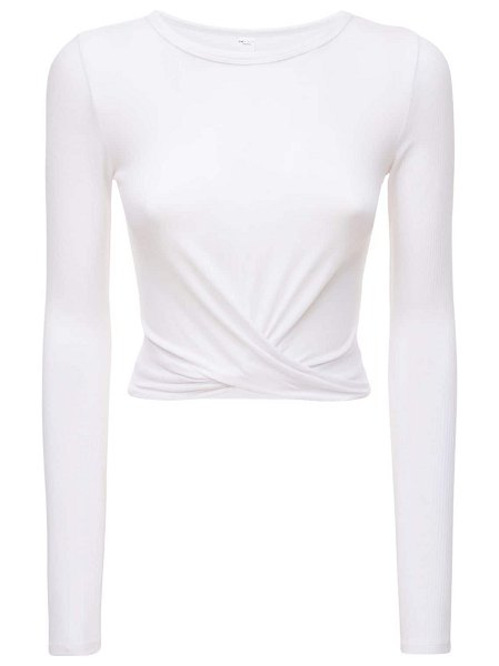 Alo Yoga Cover cropped top in white