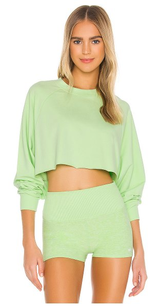 Alo Yoga double take pullover in neon lime