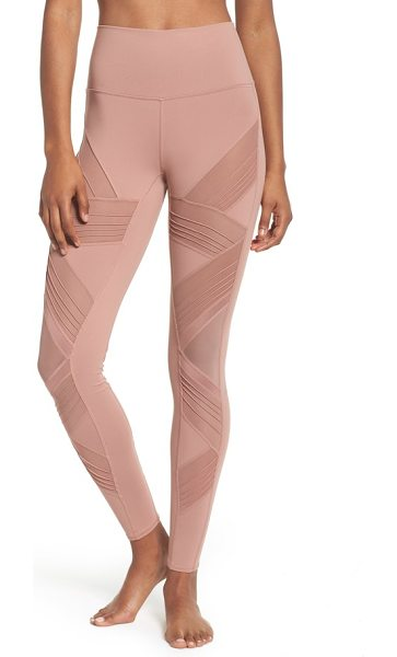 ALO YOGA ultimate high waist leggings - Ventilating mesh insets with glossy and pintucked...
