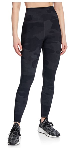 "Alo Yoga Vapor Camo-Print High-Waist Performance Leggings in black camo - Alo Yoga ""Vapor"" performance leggings in..."