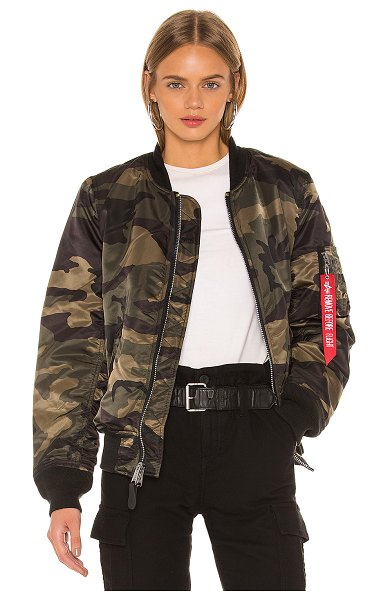 ALPHA INDUSTRIES ma-1 w bomber in dark wooland camo