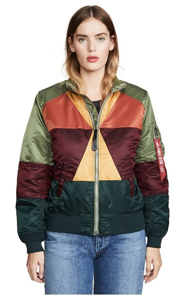 ALPHA INDUSTRIES mosaic flight jacket in multi color