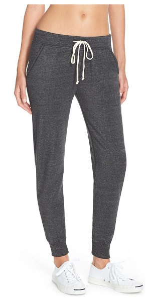 Alternative fleece jogger sweatpants in eco black