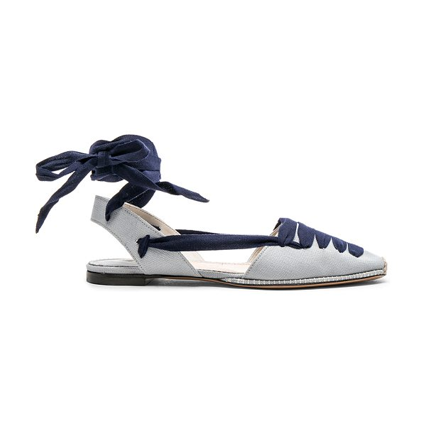 Altuzarra for FWRD D'Orsay Flat Espadrilles in blue - Canvas upper with leather sole.  Made in Italy.  Rubber...