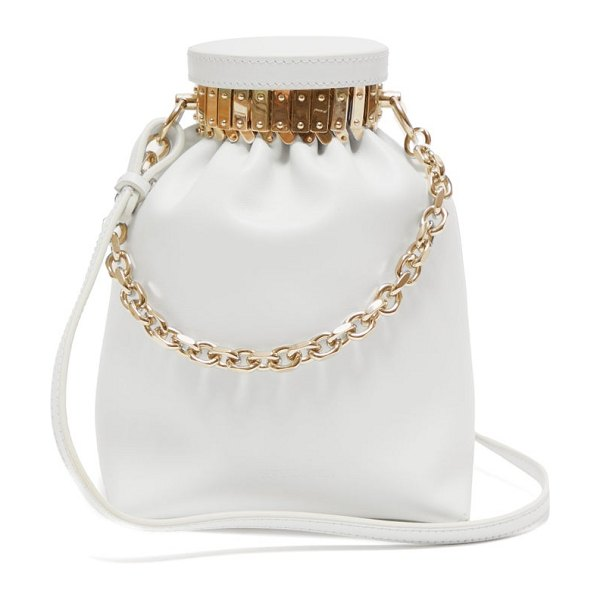 Altuzarra ice leather cross body bag in white