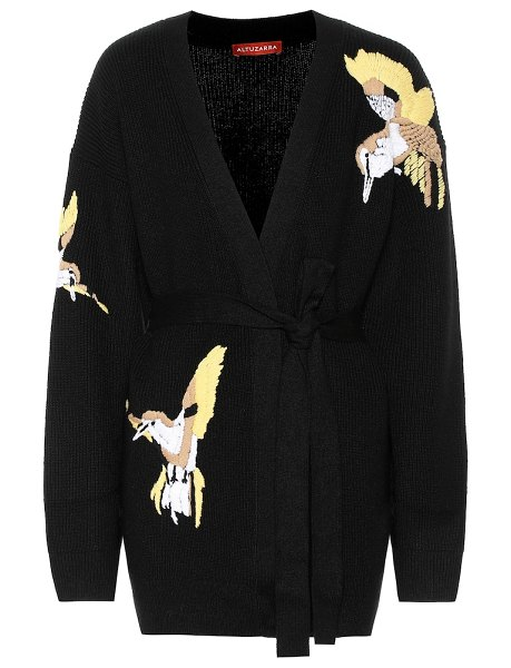 Altuzarra jareth wool and cashmere cardigan in black