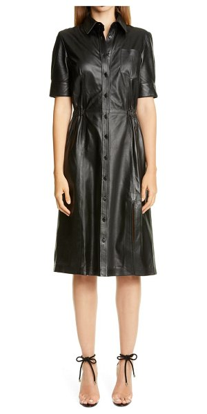 Altuzarra leather shirtdress in black