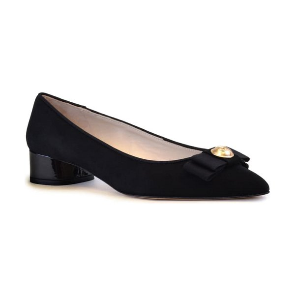 Amalfi by Rangoni ares bow pump in black suede