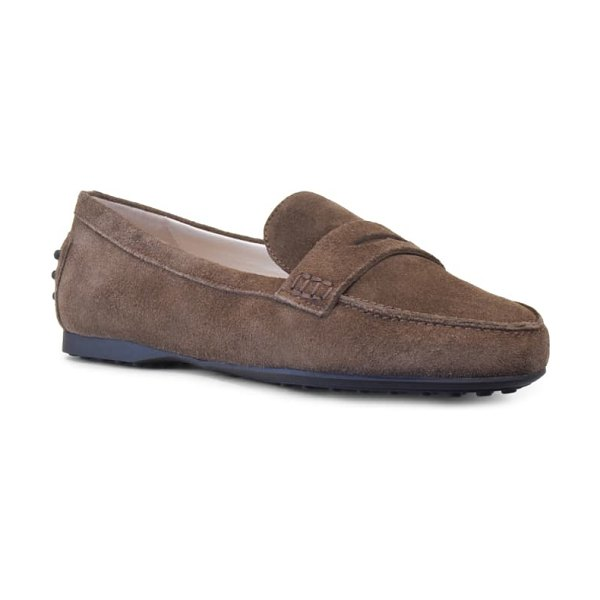 Amalfi by Rangoni dominic penny loafer in bark suede